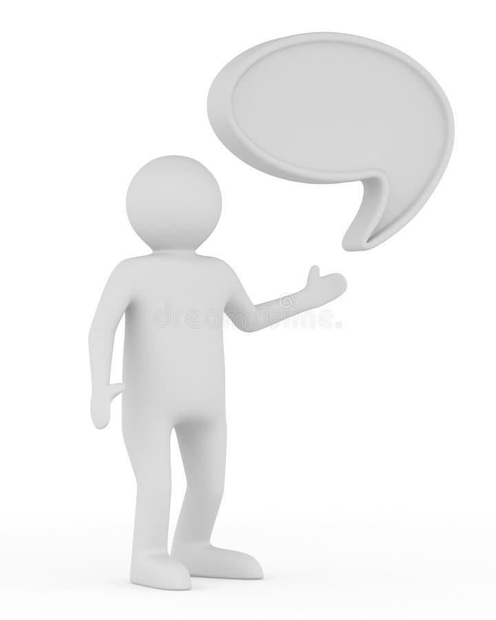 Balão da conversa no fundo branco ilustração stock