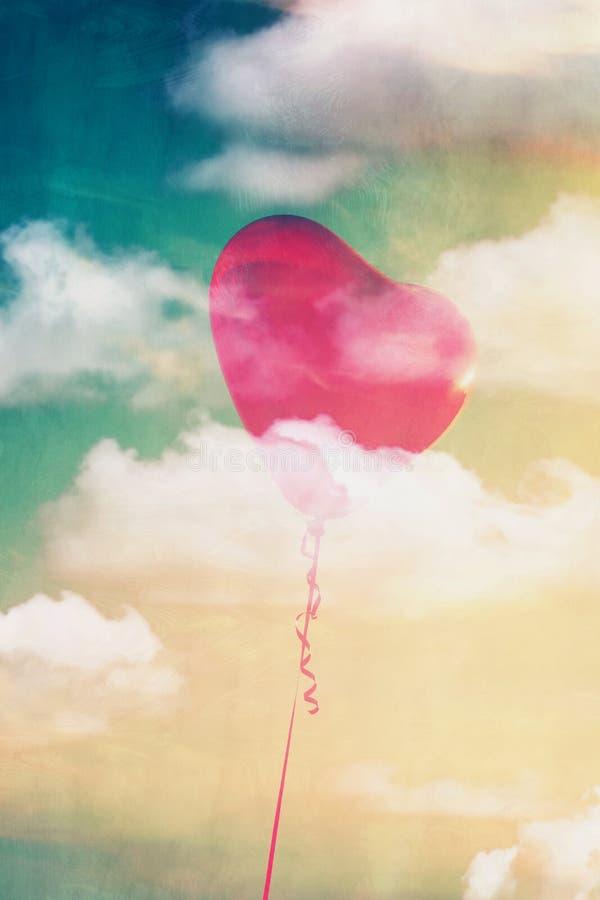 Balão da forma do coração ilustração stock