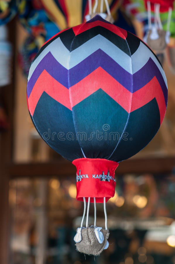 Balão da lembrança no mercado imagens de stock