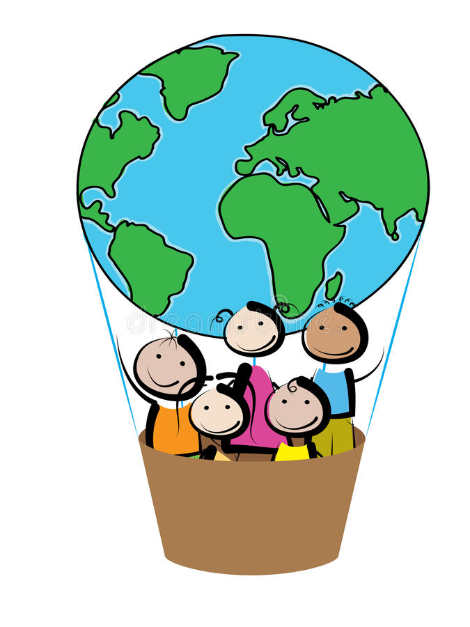 Balão das crianças ilustração stock