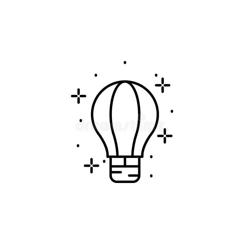 Balão de ar quente, ícone de transporte Elemento do ícone de geografia ilustração royalty free