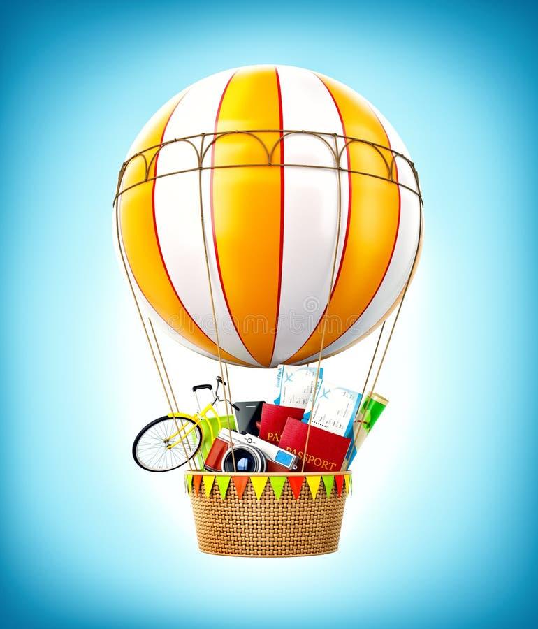 Balão de ar quente colorido ilustração royalty free