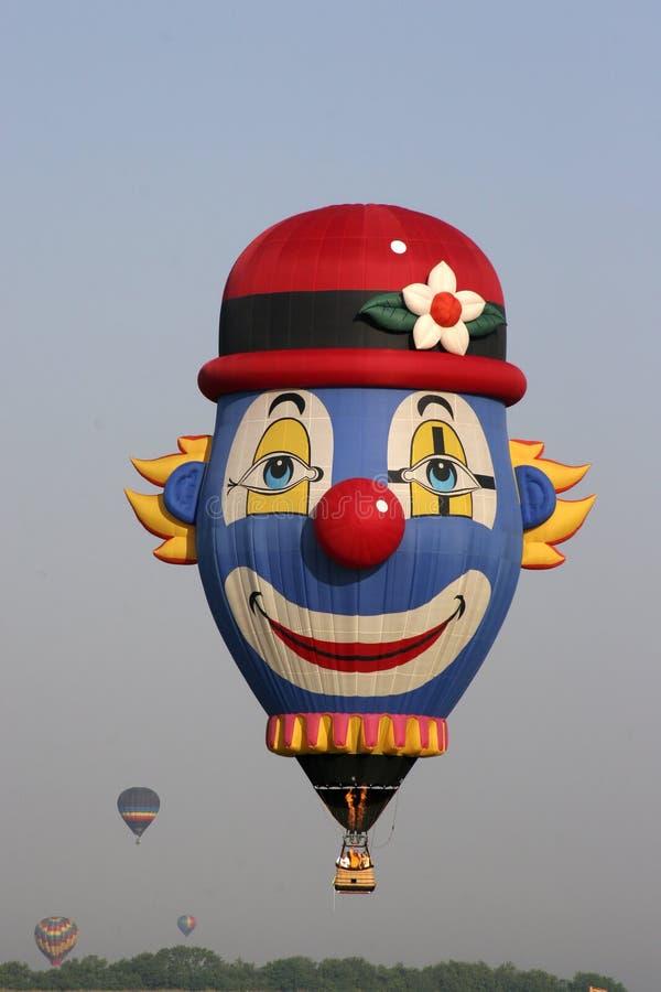 Balão de ar quente do palhaço imagem de stock