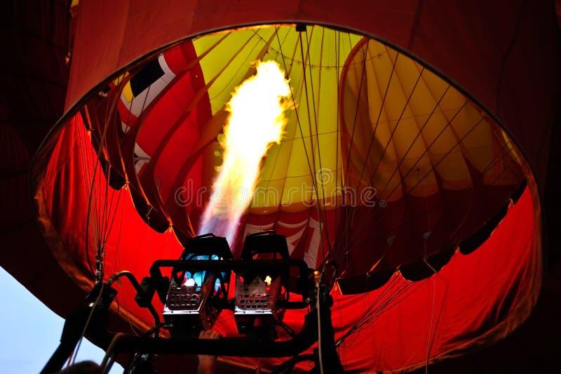 Balão de ar quente interno fotografia de stock royalty free