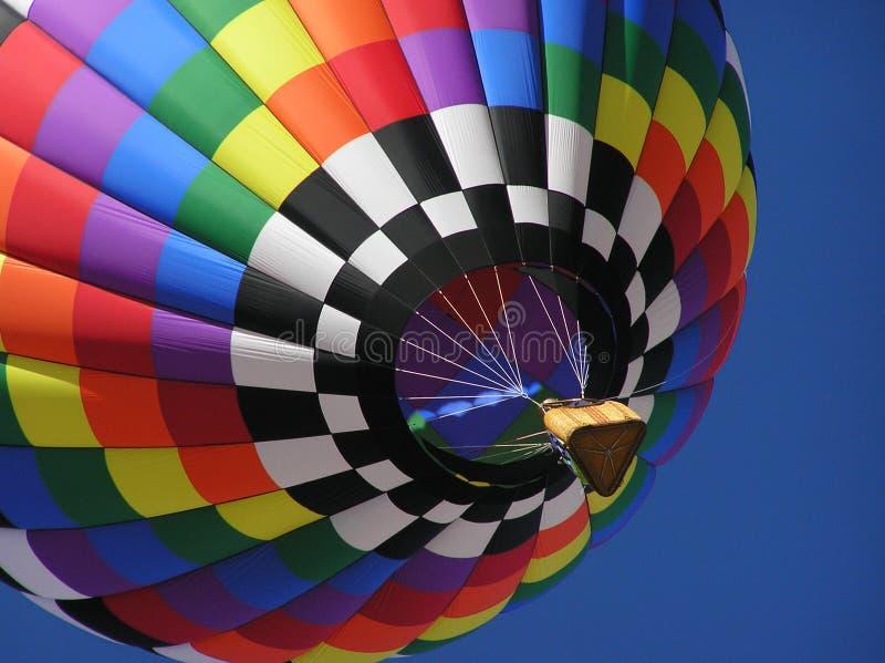 Balão de ar quente Multi-colored fotografia de stock