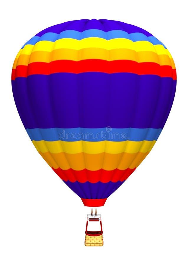 Balão de ar quente no branco ilustração do vetor