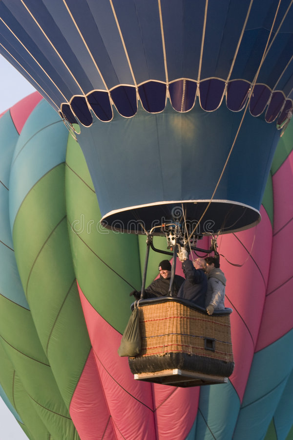 Balão de ar quente que levanta-se no festival de Greeley imagens de stock royalty free