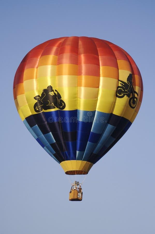 Balão de ar quente temático da motocicleta foto de stock