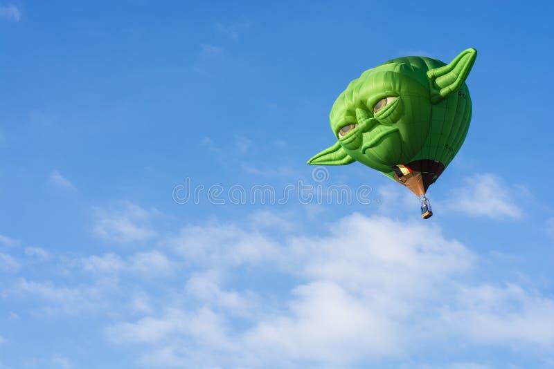 Balão de ar quente - Yoda fotos de stock