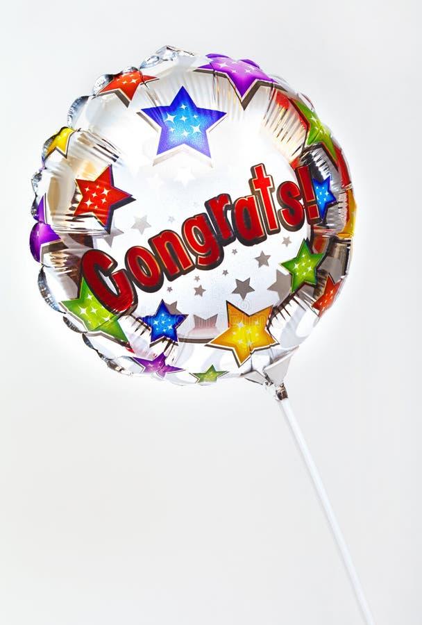 Balão de Congrats imagem de stock royalty free
