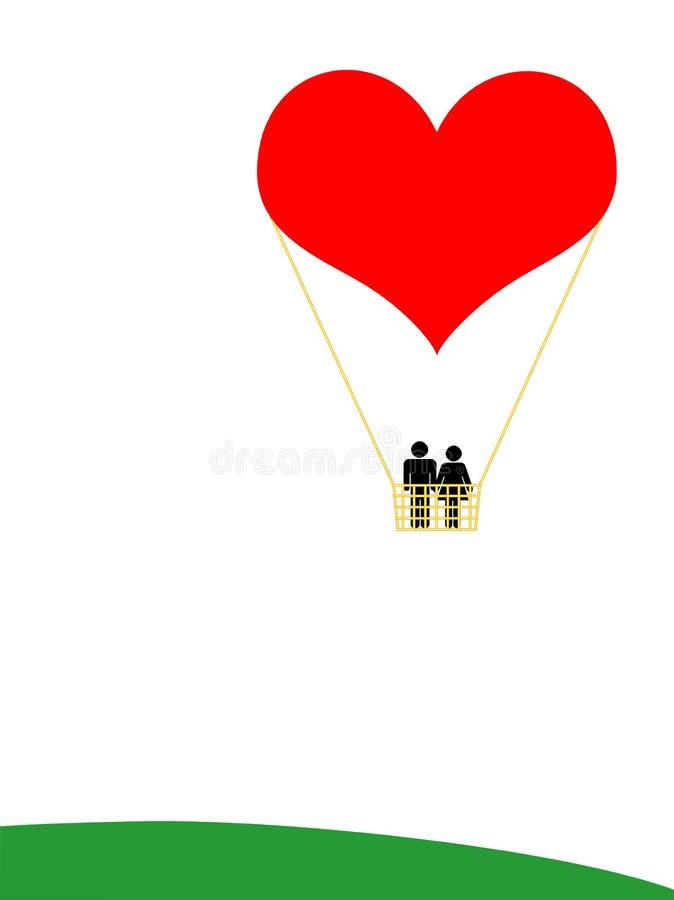 Balão do amor ilustração do vetor