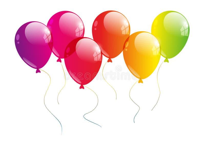 Balão do arco-íris ilustração do vetor