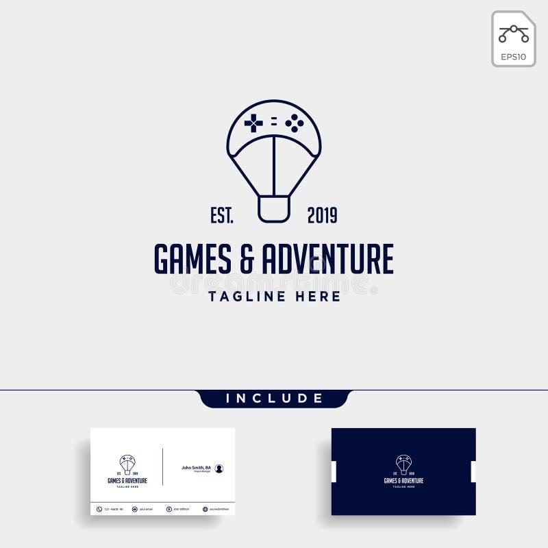 balão do controlador do projeto do logotipo do jogo o elemento do ícone da ilustração do vetor da viagem ilustração royalty free