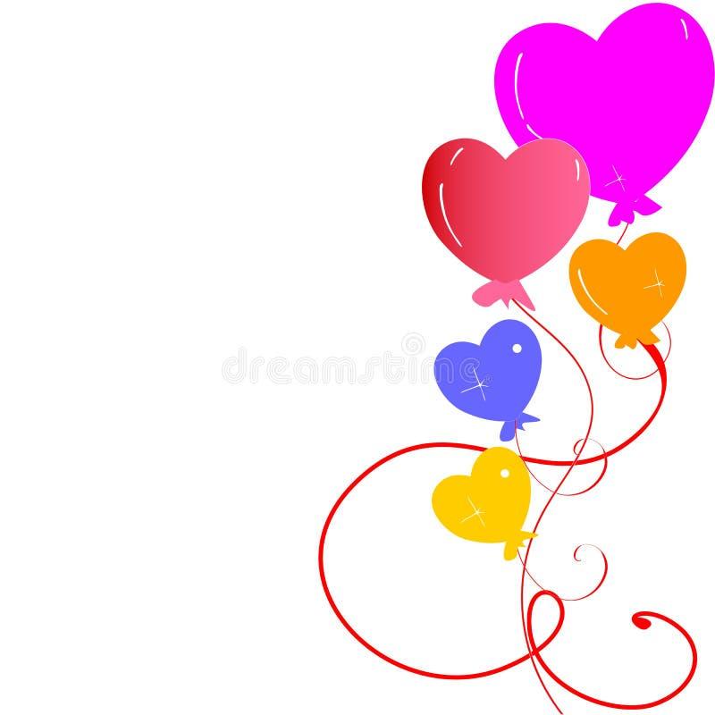 Balão do coração imagens de stock