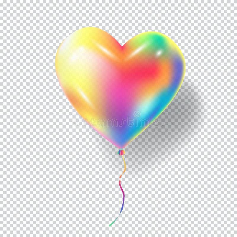 Balão do coração ilustração royalty free