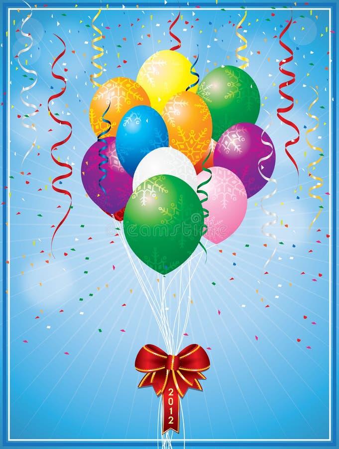 Balão do Natal do vetor ilustração royalty free