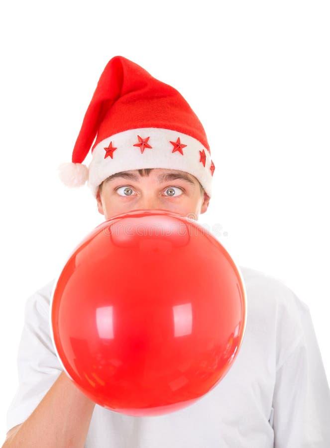 Balão do vermelho da explosão do adolescente fotos de stock