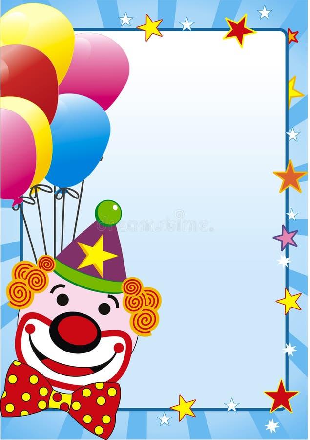 Balão e palhaço ilustração do vetor