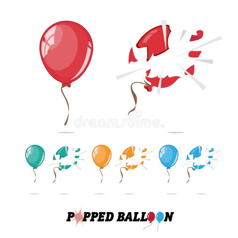 Balão estalado - ilustração royalty free