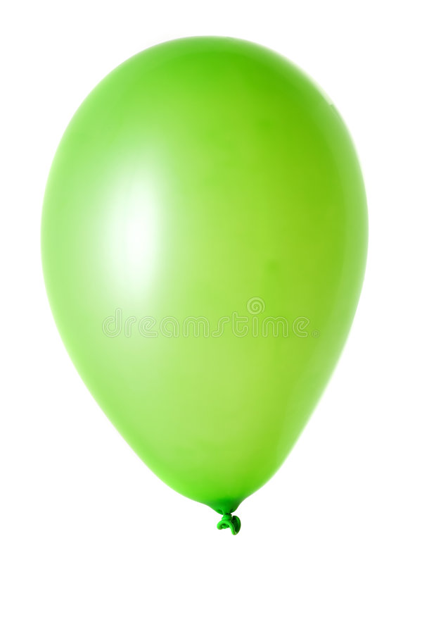 Balão no branco fotografia de stock royalty free