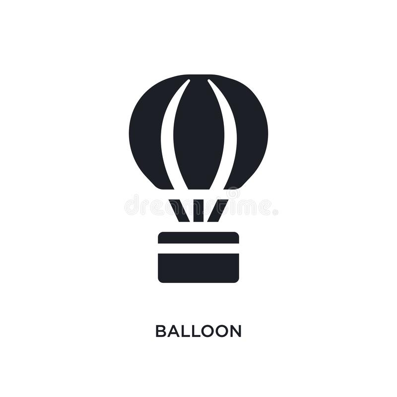 balão preto ícone isolado do vetor ilustração simples do elemento dos ícones do vetor do conceito da acomodação logotipo editável ilustração do vetor