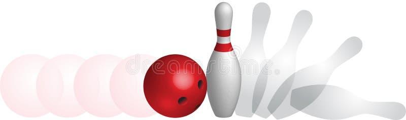 Balística del bowling ilustración del vector