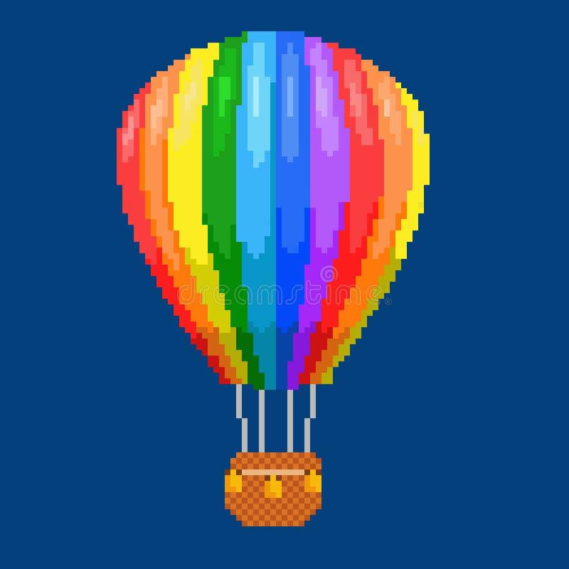 Balón de aire (aerostato) stock de ilustración
