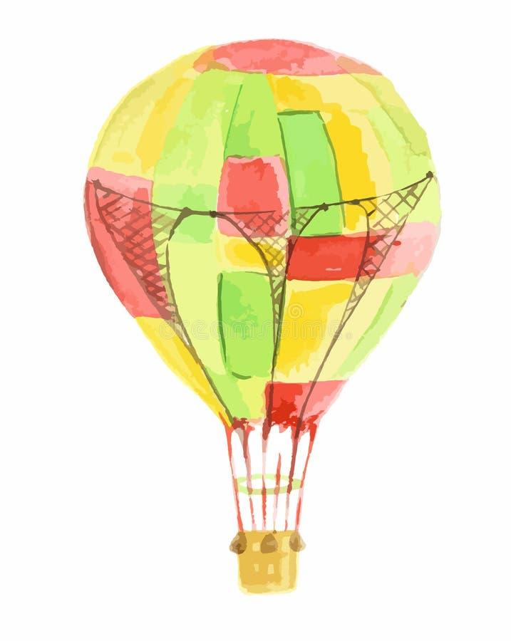 Balón de aire aislado de la acuarela libre illustration