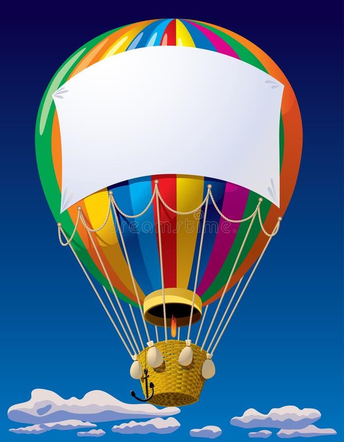 Balón de aire en el cielo ilustración del vector