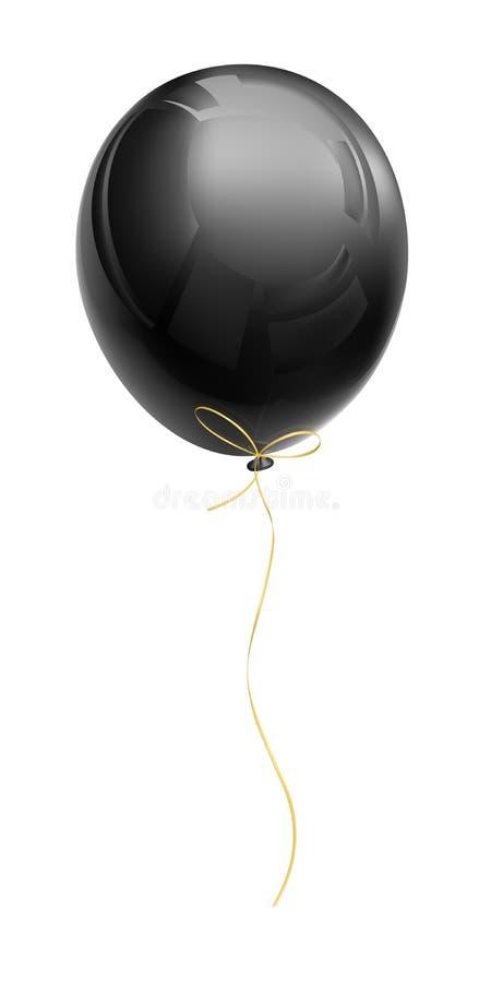 Balón de aire negro realista ilustración del vector