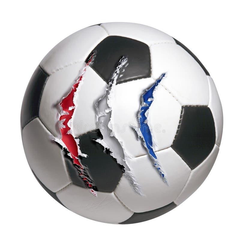 Balón de fútbol imagen de archivo libre de regalías