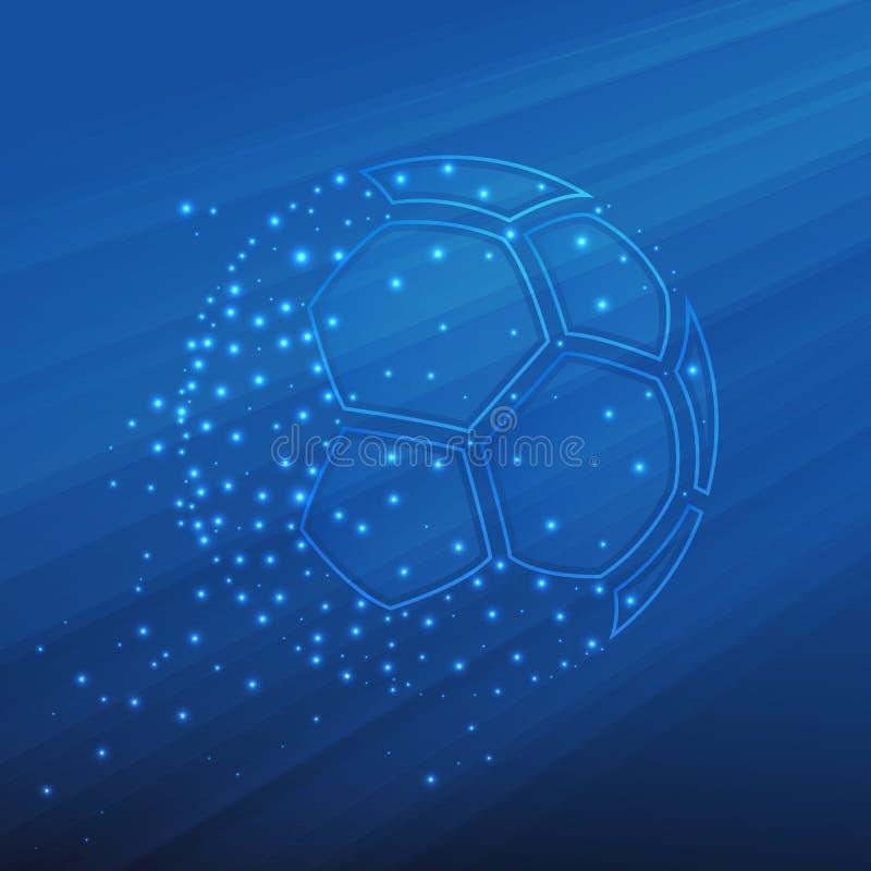 Balón de fútbol abstracto stock de ilustración