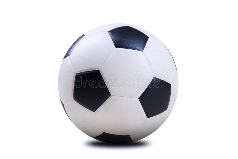 Balón de fútbol aislado en blanco imágenes de archivo libres de regalías