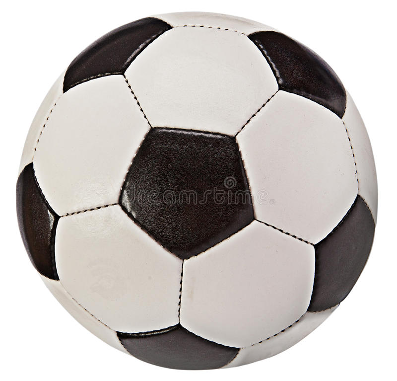 Balón de fútbol (anaranjado y azul) - aislado en blanco imagen de archivo