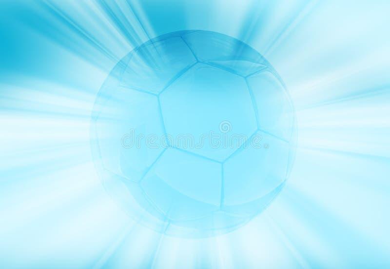 Balón de fútbol azul brillante stock de ilustración