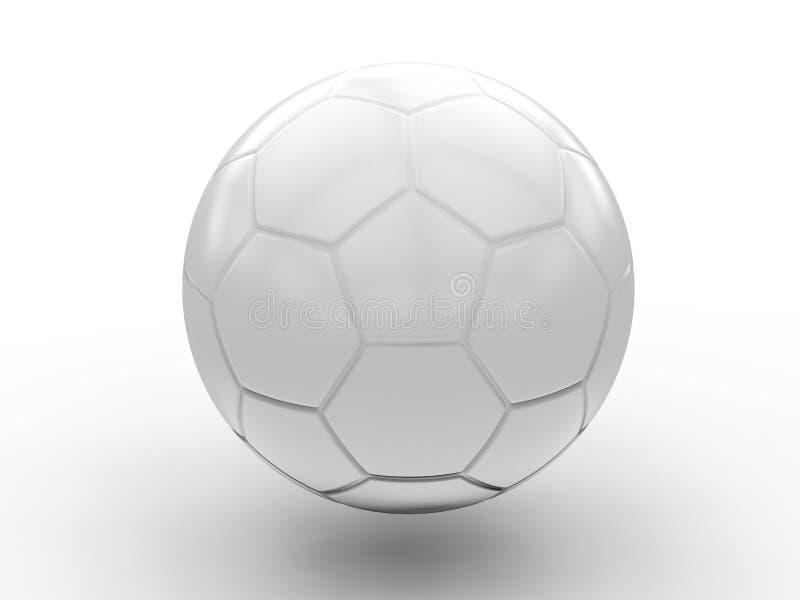 Balón de fútbol blanco imagenes de archivo