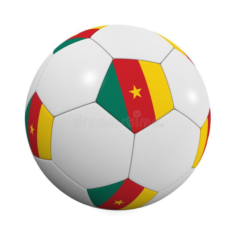 Balón de fútbol camerunés stock de ilustración