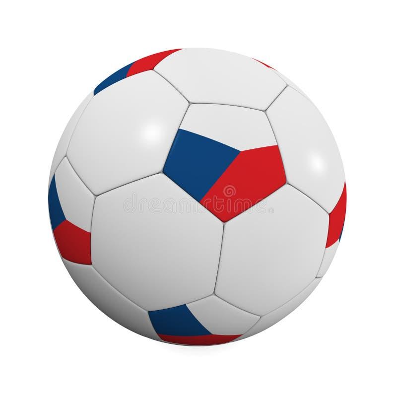 Balón de fútbol checo stock de ilustración