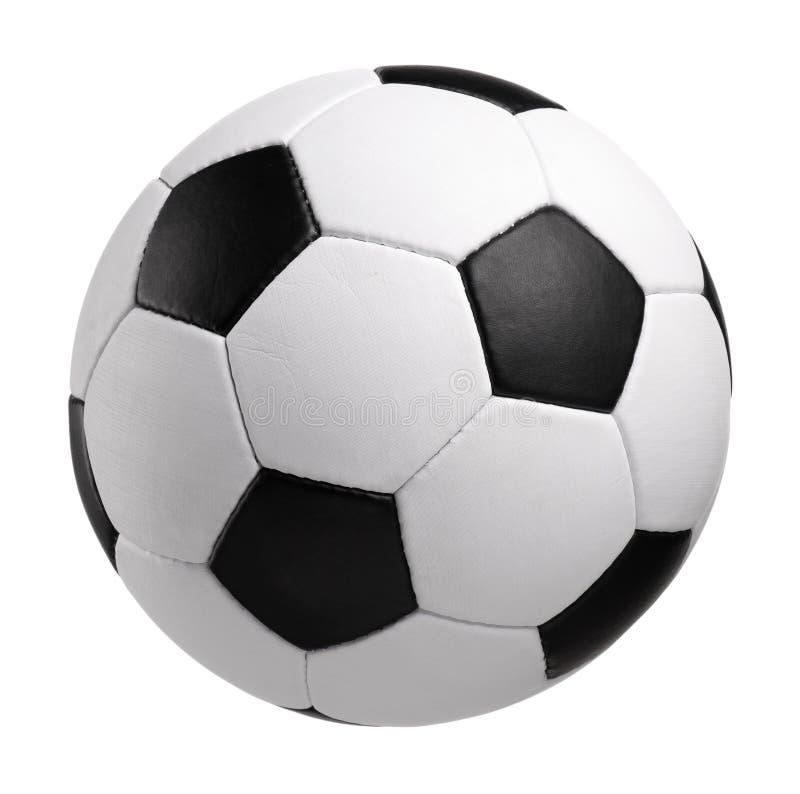 Balón de fútbol clásico imagen de archivo libre de regalías