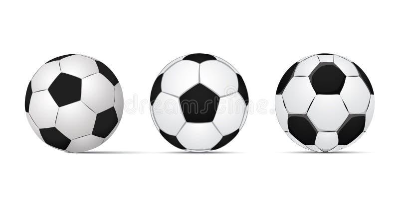 Balón de fútbol clásico, ejemplo EPS 10 fotografía de archivo