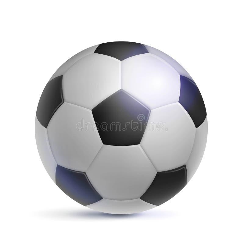 Balón de fútbol clásico, realista, aislado libre illustration