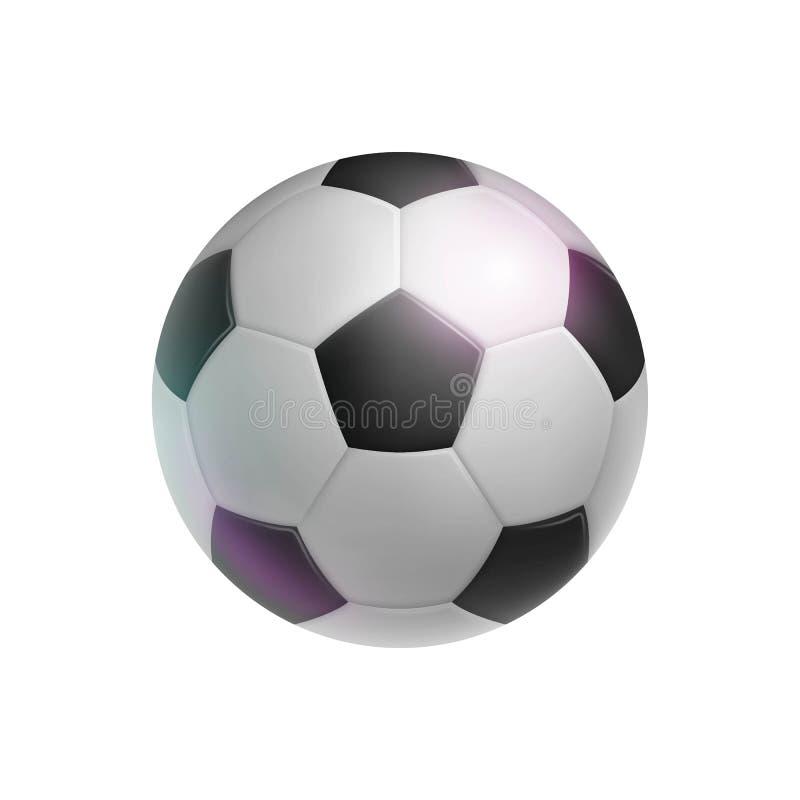 Balón de fútbol clásico, realista, aislado ilustración del vector