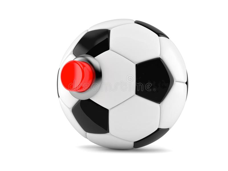 Balón de fútbol con el botón ilustración del vector