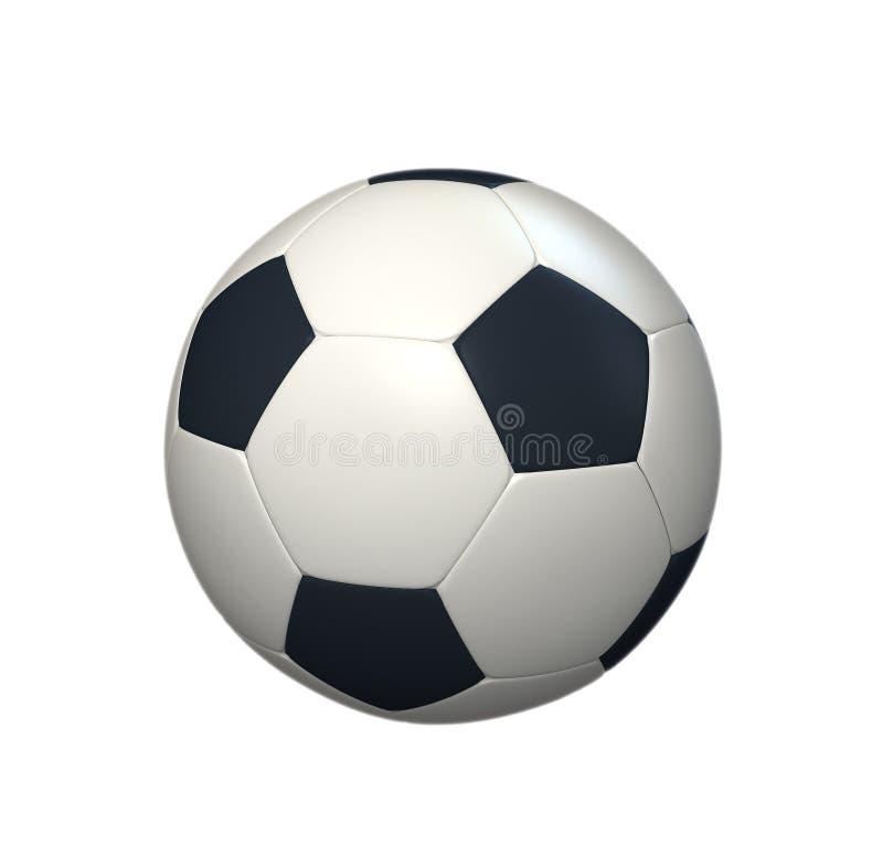 Balón de fútbol contra el fondo blanco libre illustration