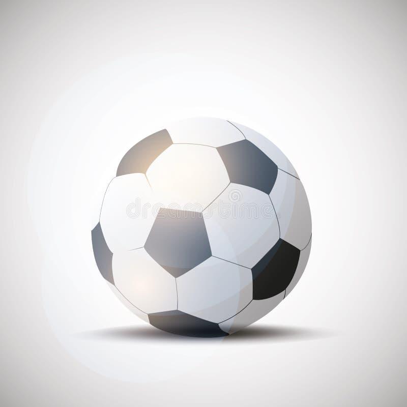 Balón de fútbol de cuero brillante del fútbol libre illustration