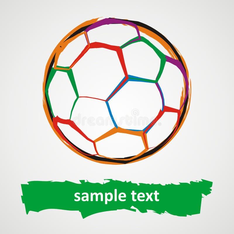 Balón de fútbol de Grunge ilustración del vector