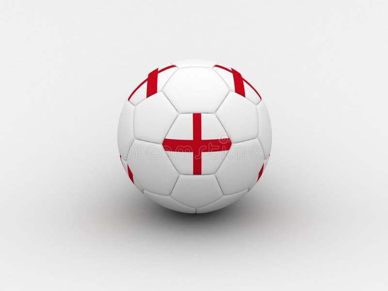 Balón de fútbol de Inglaterra stock de ilustración