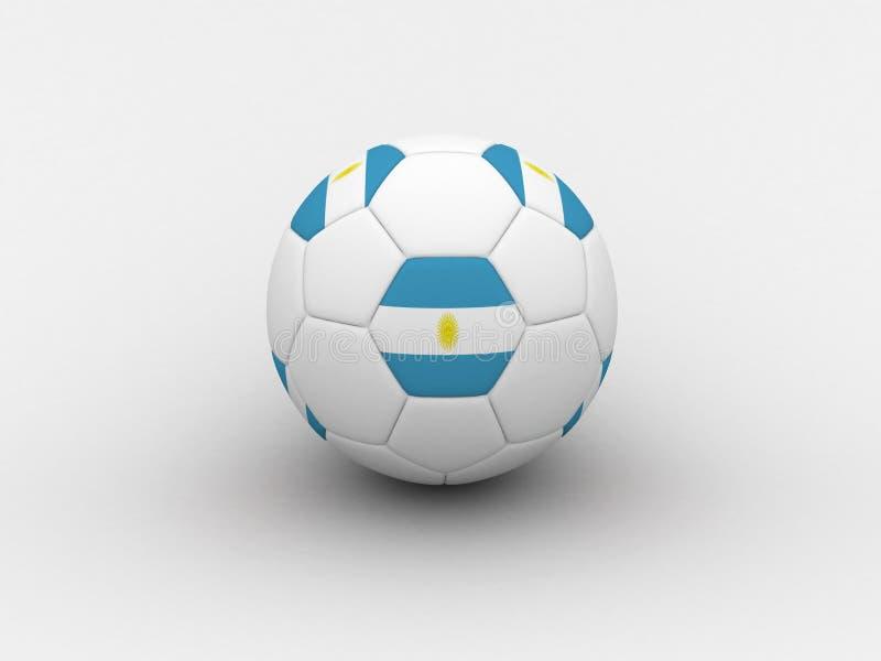 Balón de fútbol de la Argentina ilustración del vector