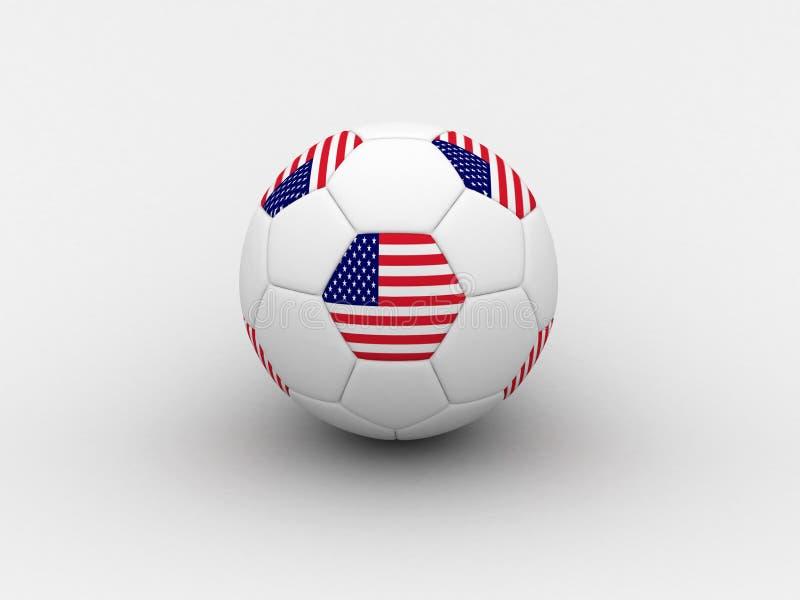 Balón de fútbol de los E.E.U.U. ilustración del vector
