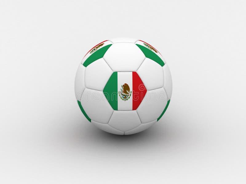 Balón de fútbol de México stock de ilustración